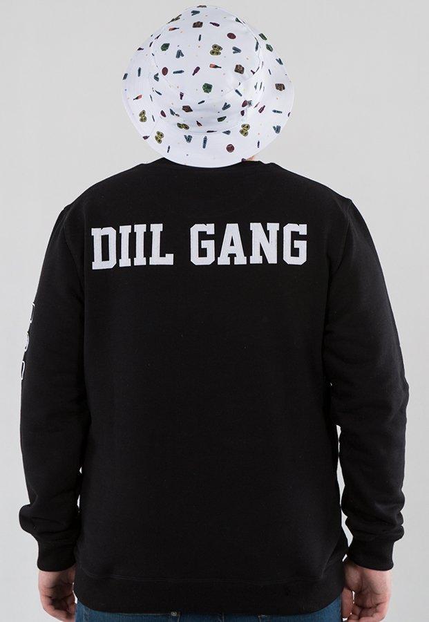bluza dill gang czarno fioletowa z kapturem
