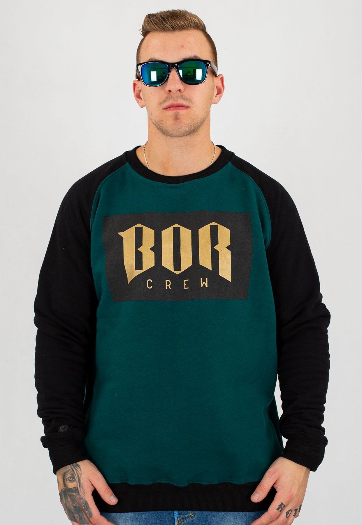 Kup online cienie ceny detaliczne Bluza B.O.R. Biuro Ochrony Rapu BOR New zielono czarna