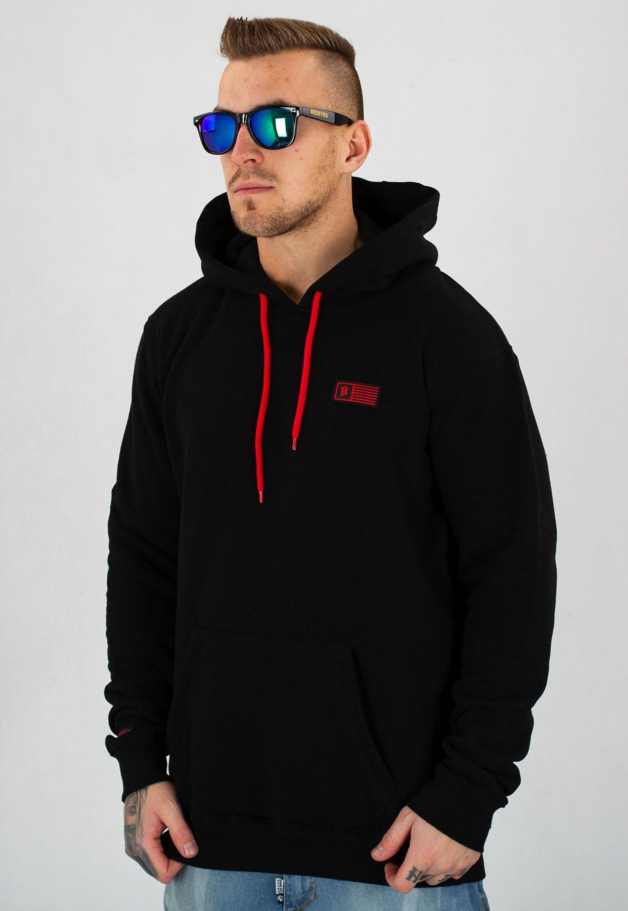 bluza męska z kapturem bor harley sport black s