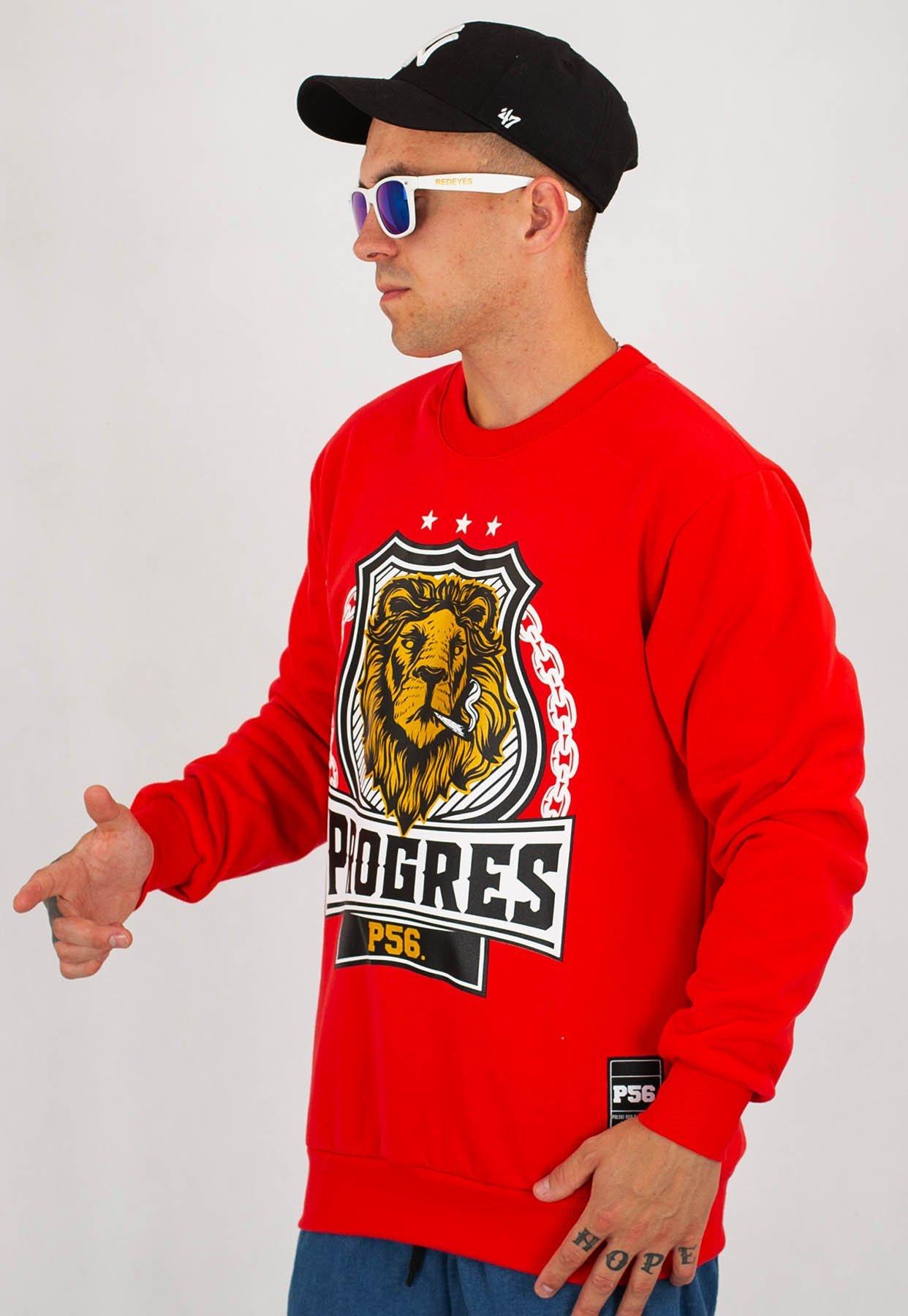 Bluza Dudek P56 Progres Lion czerwona
