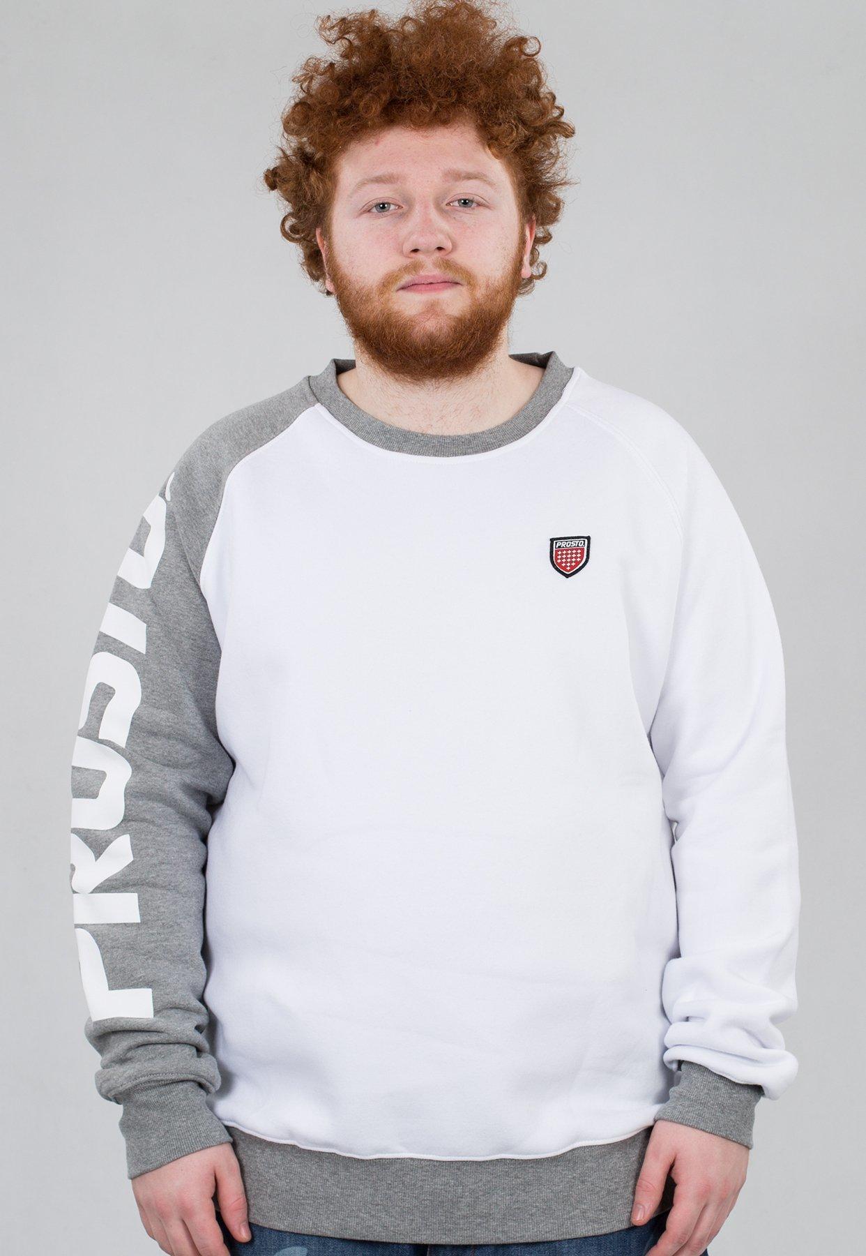 bluza biała prosto męskie