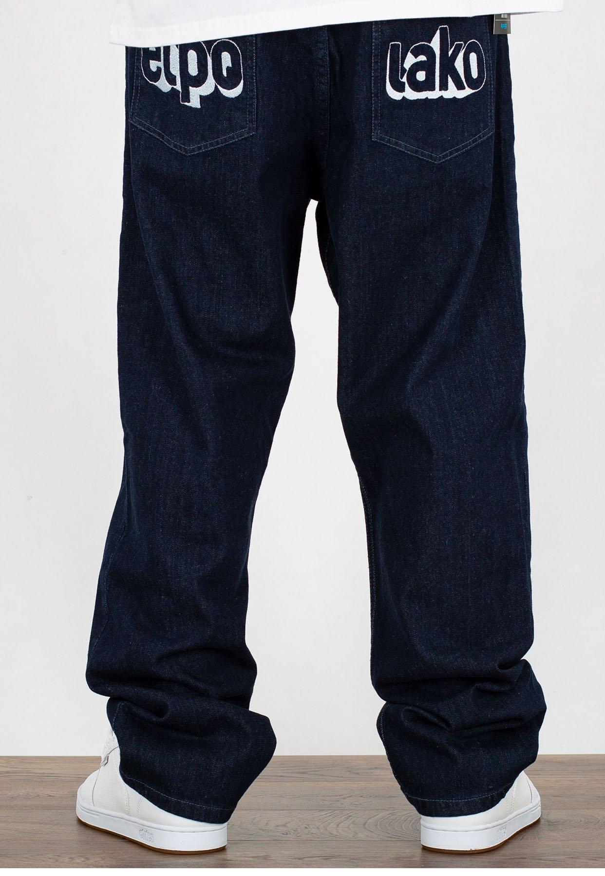 przed Sprzedaż Cena hurtowa na wyprzedaży Spodnie El Polako Baggy 3D ciemne