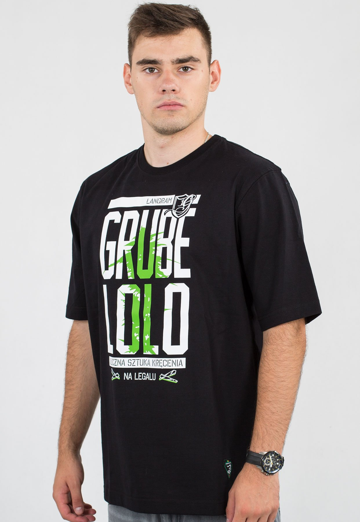 przystępna cena fabrycznie autentyczne nowy wygląd T-shirt Grube Lolo Krzun czarny