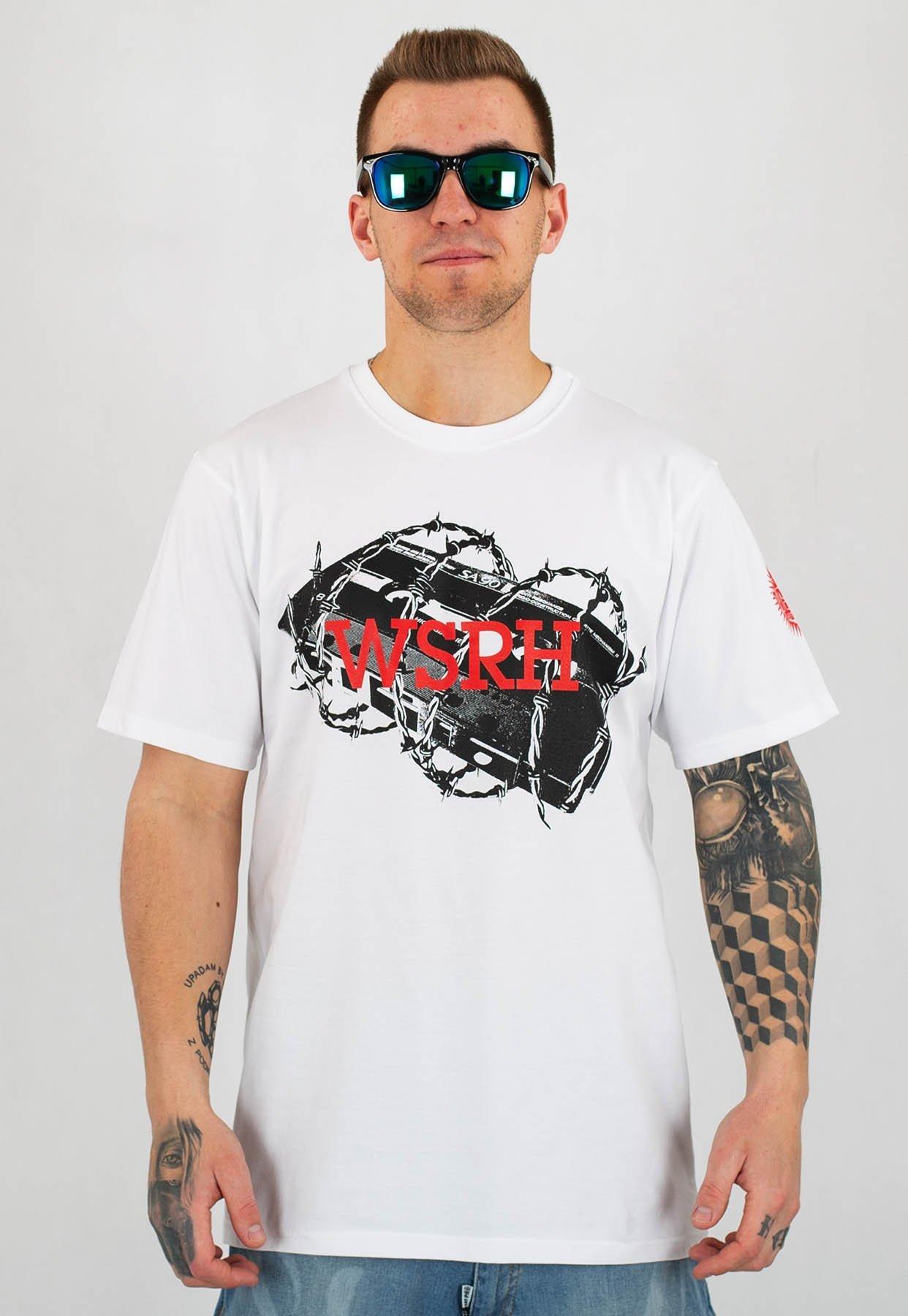 6970e5f3c T-shirt WSRH Mam To We Krwi biały