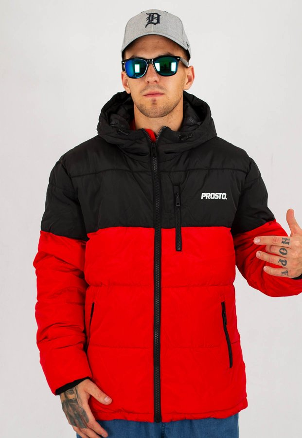 Kurtka Prosto Winter Adament Black & Red
