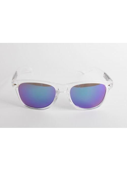 Storm' Okulary Przezroczyste Niebieskie Szkła | Diamante