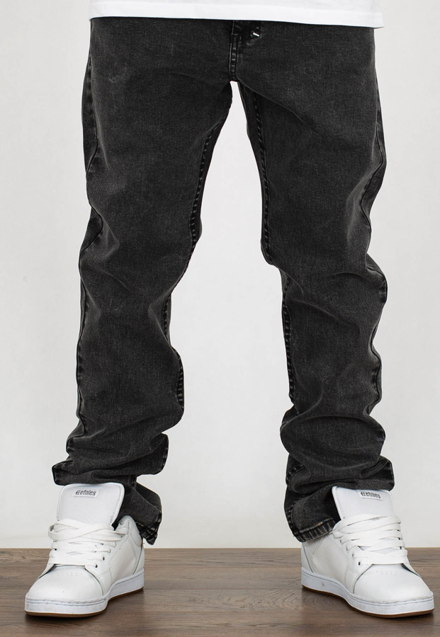 Spodnie Mass Classics Straight Fit black stone washed