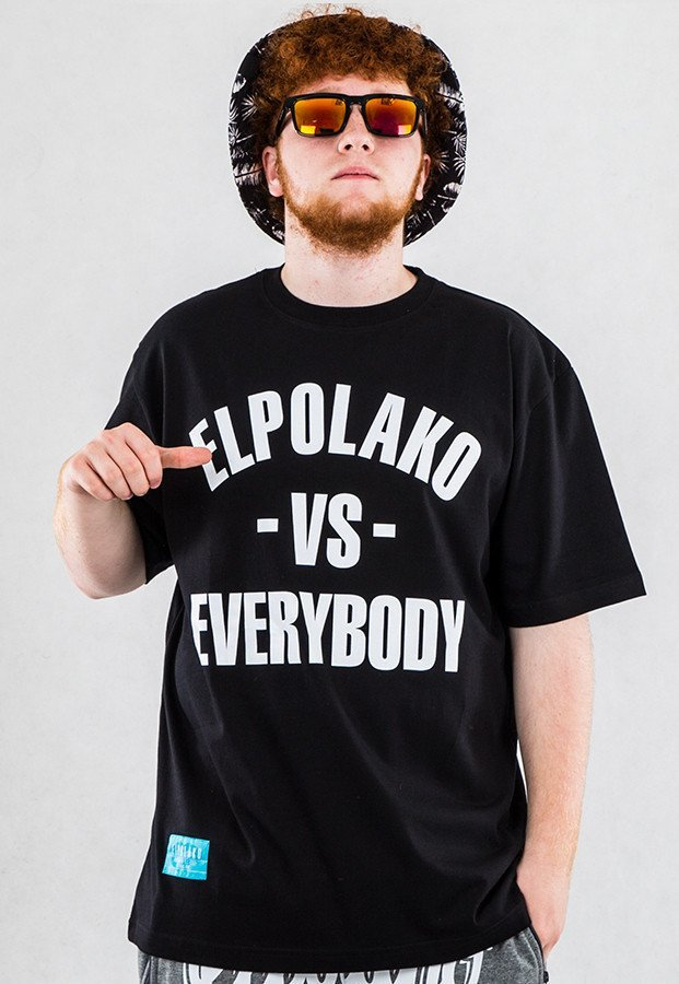 T-shirt El Polako Vs Everybody czarny