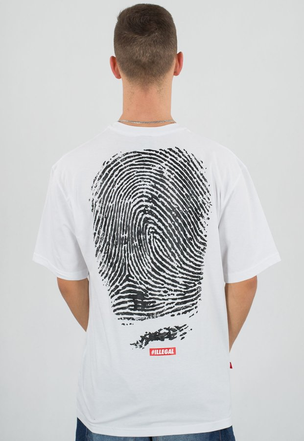T-shirt Illegal Odcisk biały