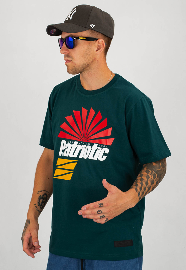 T-shirt Patriotic Sunshine zielony
